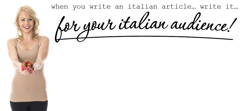 italian article writing