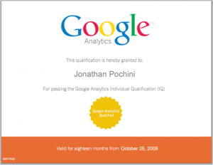 Google Analytics Certified